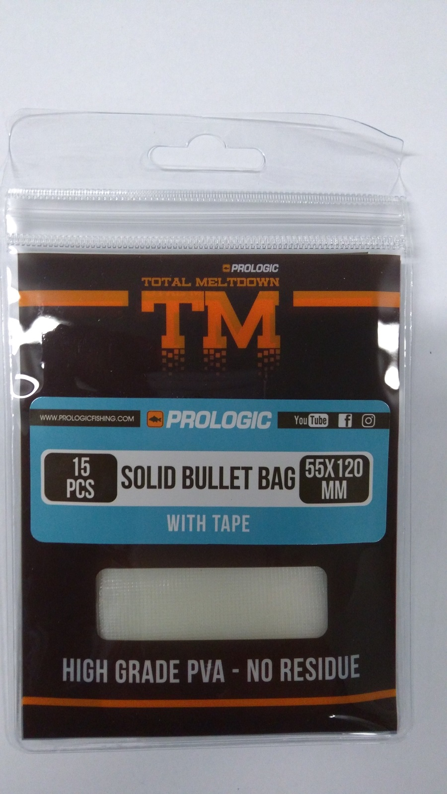Пва пакеты Prologic TM PVA Solid Bullet Bag с ниткой 55x120 мм. 15 шт