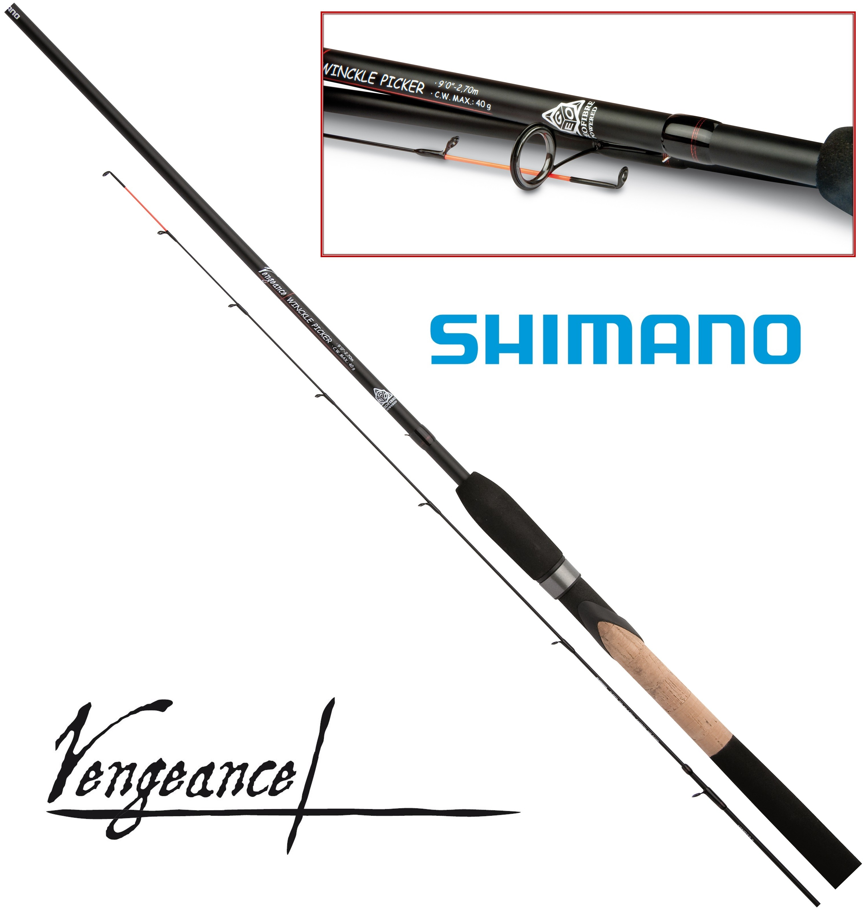 Пикерное удилище Shimano Vengeance Winckle Picker 9 ft. 2.7 м. до 40 гр