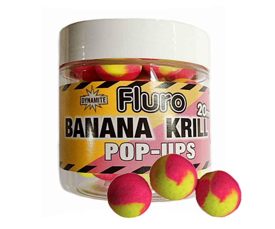 Бойлы Поп-ап Dynamite Baits Two Tone Krill Banana Fluro Pop-Up 20 мм