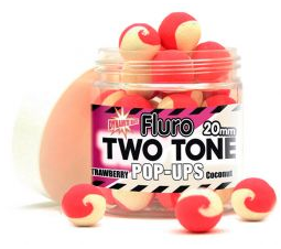 Бойлы Поп-ап Dynamite Baits Two Tone Strawberry Coconut Cream Fluro Pop-Up 20 мм