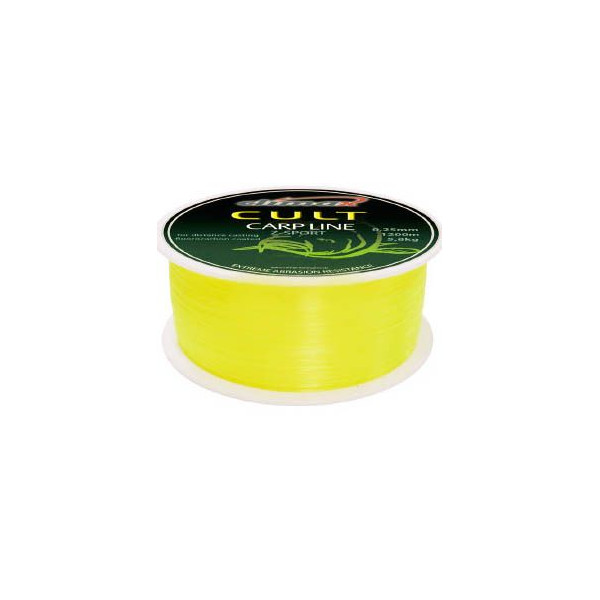 Леска Climax Cult Carpline Z-Sport Fluo-Yellow 1200 м. 0.25 мм. 5.8 кг