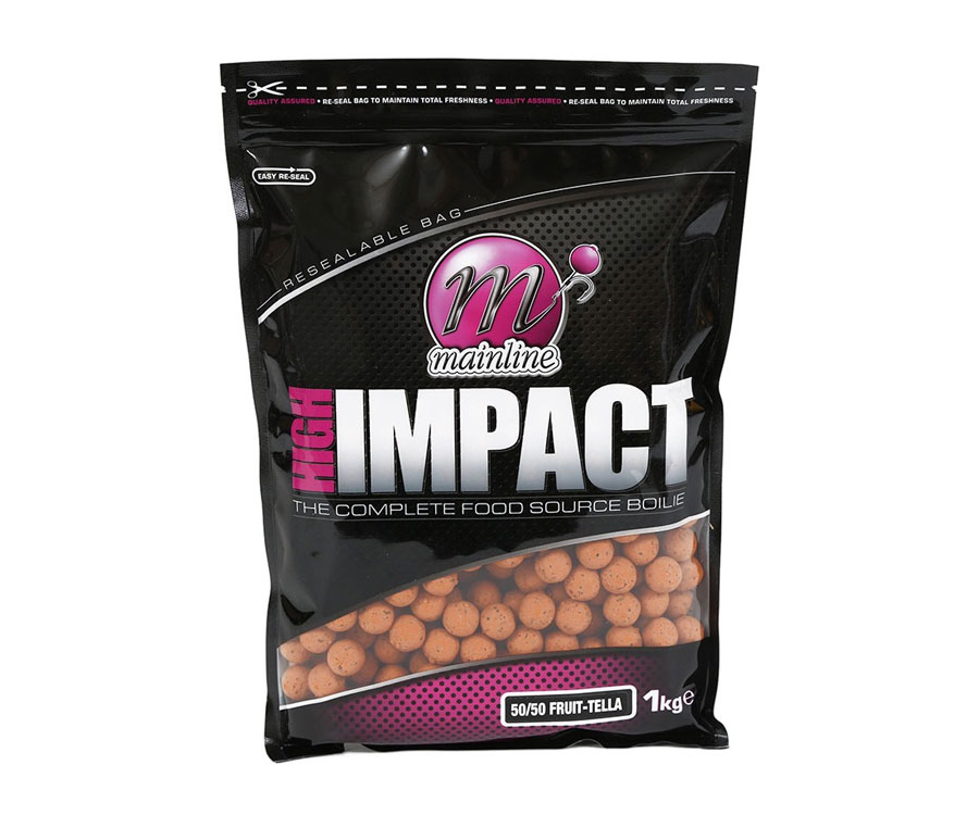 Бойлы донные Mainline High Impact Boilies 50/50 Fruit Telia 16 мм. 1 кг. New