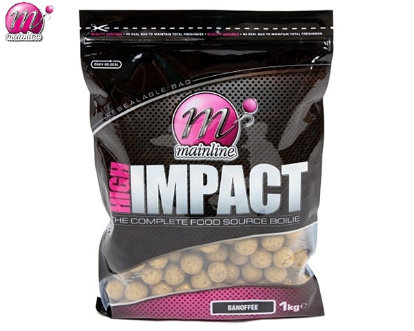 Бойлы донные Mainline High Impact Boilies Banoffee 16 мм. 1 кг