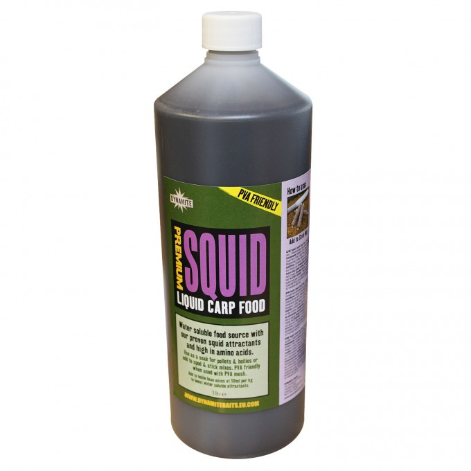 Ликвид Dynamite Baits Premium Squid Liquid Bottle 1 Litre