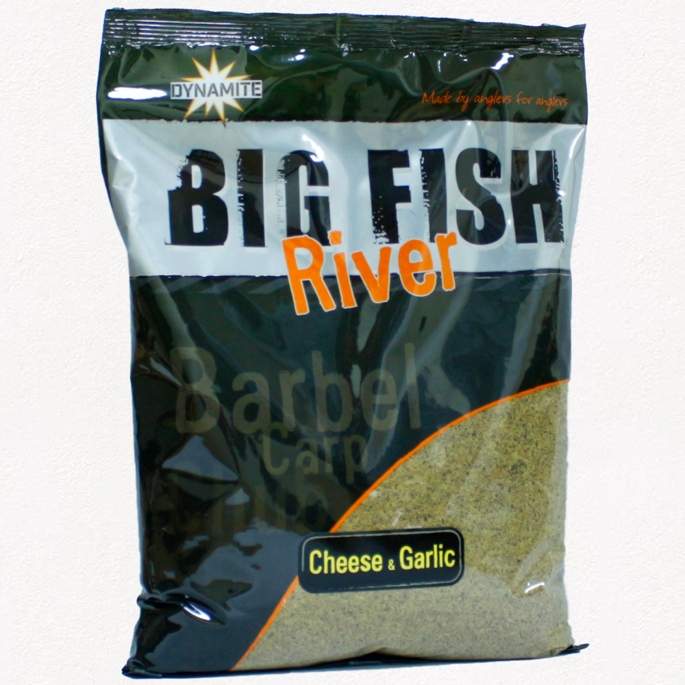 Прикормка Dynamite Baits Big Fish River Groundbait Cheese and Garlic New 1.8  кг