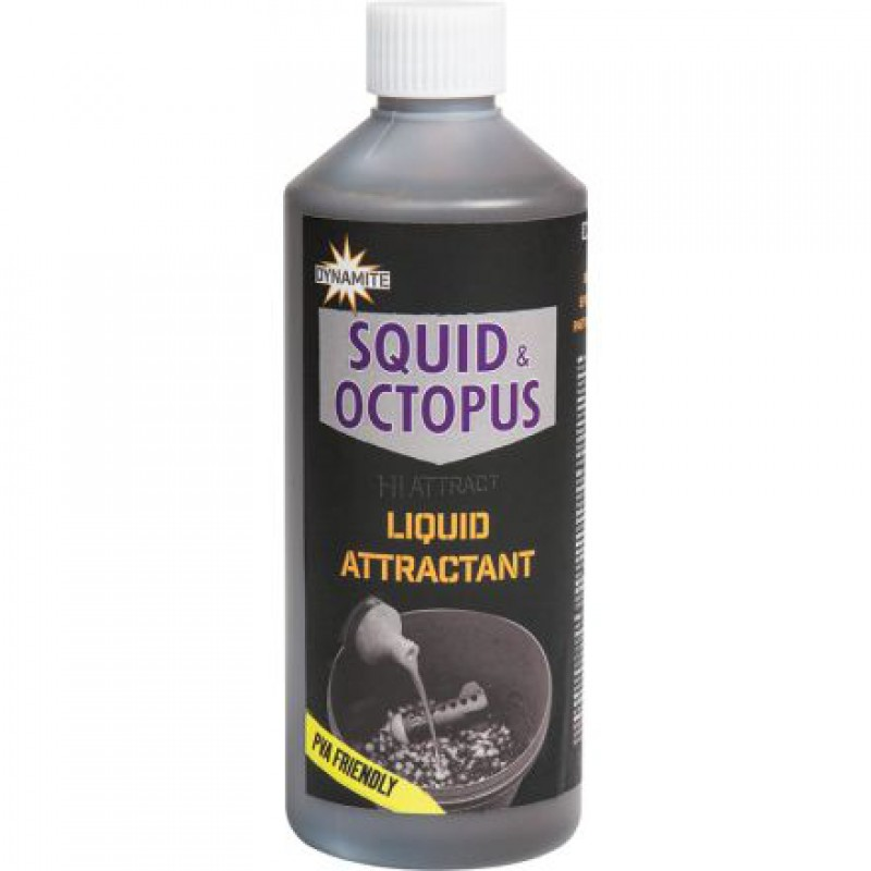 Ликвид Dynamite Baits Squid Octopus Liquid Attractant 500 мл