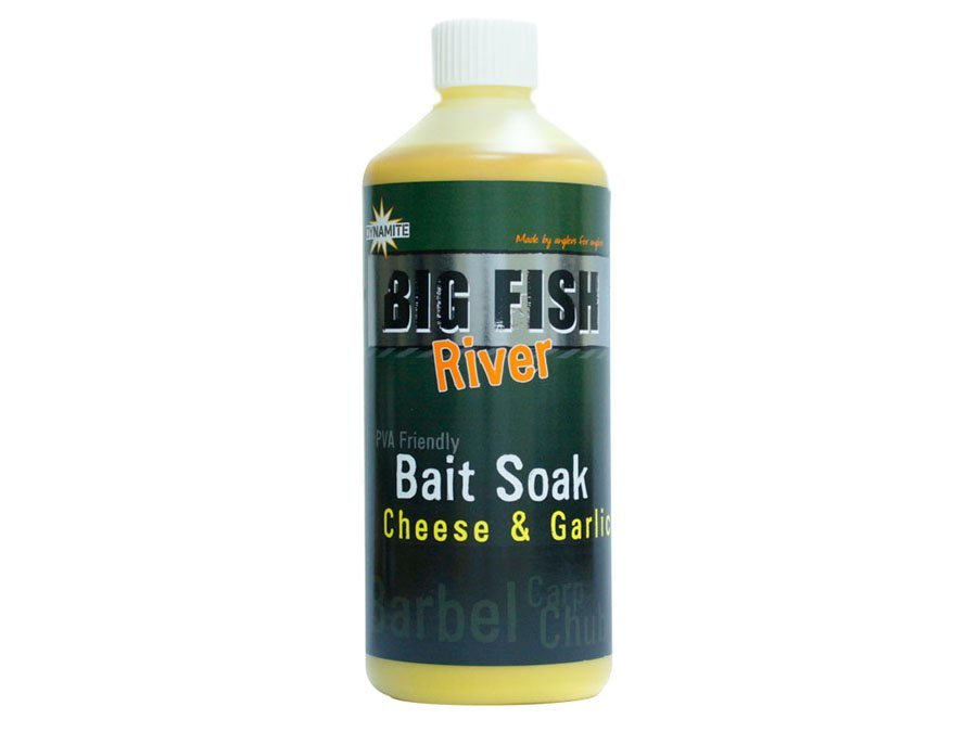 Ликвид Dynamite Baits Big Fish River Bait Soak Cheese and Garlic 500 мл