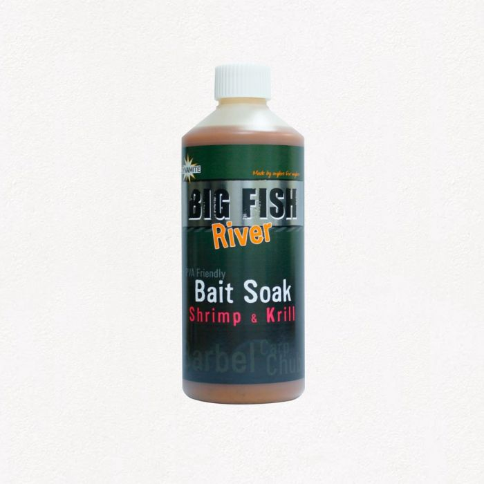 Ликвид Dynamite Baits Big Fish River Bait Soak Shrimp and Krill 500 мл