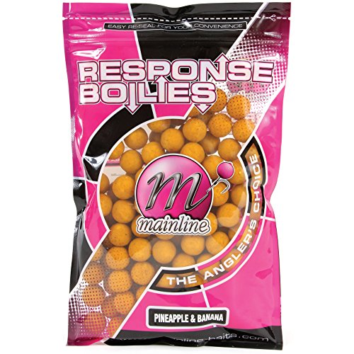 Бойлы донные Mainline Response Range Boilies Shelf Life PineappleBanana 18мм.450