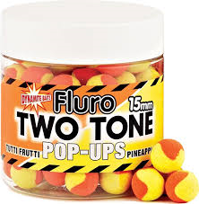 Бойлы Поп-ап Dynamite Baits Two Tone Tutti Frutti-Pineapple Fluro Pop-Up 15 мм