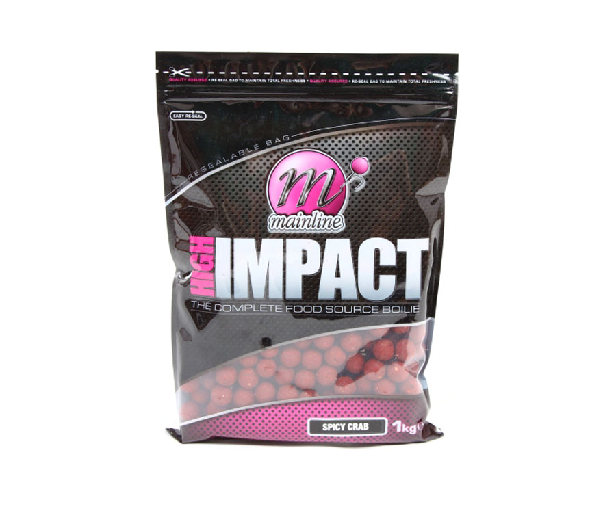 Бойлы донные Mainline High Impact Boilies Spiced Crab 20 мм. 1 кг