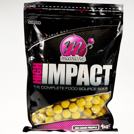 Бойлы донные Mainline High Impact Boilies High Leakage Pineapple 16 мм. 1 кг
