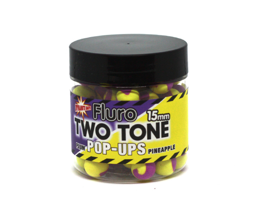 Бойлы Поп-ап Dynamite Baits Two Tone Plum-Pineapple Fluro Pop-Up 15 мм
