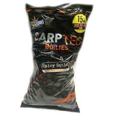 Бойлы донные Dynamite Baits Carptec Spicy Squid 15 мм. 2 кг. + Free Pop-Up