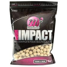 Бойлы донные Mainline High Impact Boilies Peaches Cream 16 мм. 1 кг