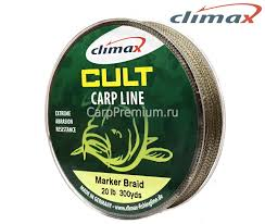 Маркерный шнур Climax Cult Marker Braid Green 20 lb. 274 м