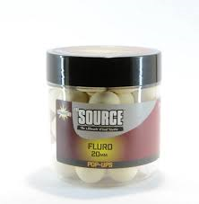 Бойлы попп-ап Dynamite Baits Source White Fluro Pop Up 20 мм