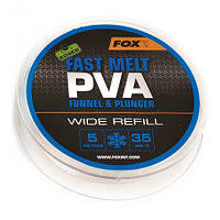 Пва сетка Fox Edges PVA Mesh Refills Blue Fast Melt Wide 35 мм. 5 м