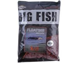 Пеллетс прикорм.Dynamite Baits Big Fish Krill Floating Pellets 11мм. 1.1 кг. New