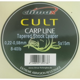 Шок-лидер Climax Cult Tapered Shock Leader 5x15 м. 0.28-0.58 мм.12-40 lb