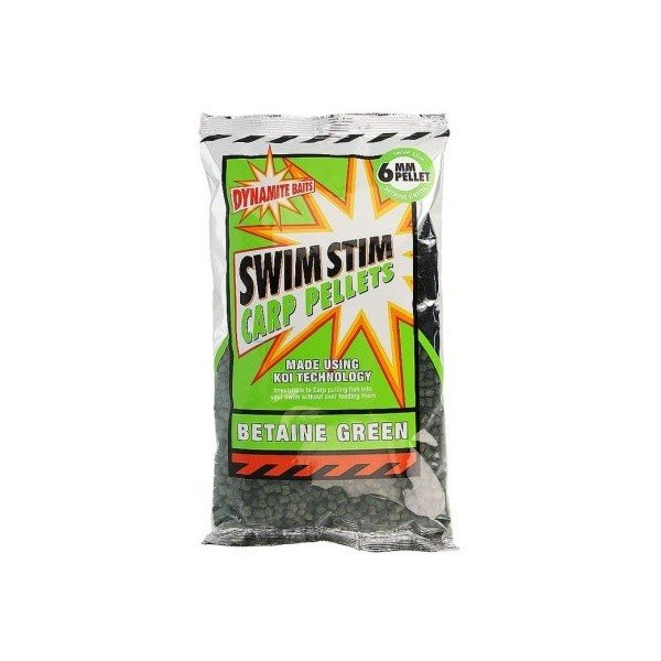Пеллетс прикормочный Dynamite Baits Swim Stim Betaine Green Pellets 6 мм. 900 гр