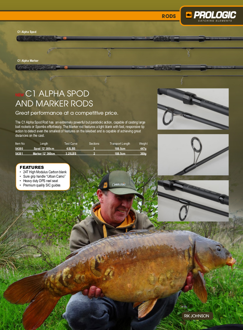 Сподовое удилище Prologic C1 Alpha Spod Rod 12 ft. 4.5 lb