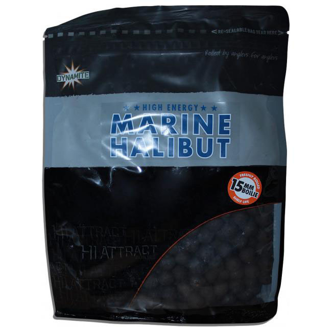 Бойлы донные Dynamite Baits Hi-Attract Marine Halibut 15 мм. 1 кг. New