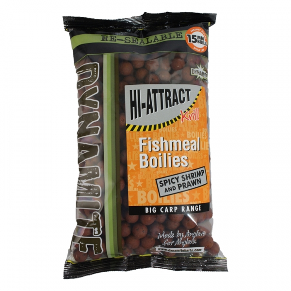 Бойлы донные Dynamite Baits Boilie Spicy Shrimp Prawn 15 мм. 1 кг